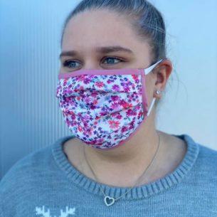 Mund- Und Nasenmasken Im Blümchenmuster