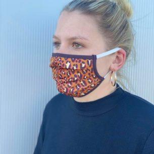 Mund- Und Nasenmasken Im Leomuster
